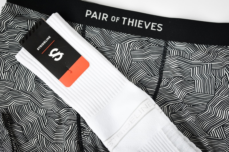 pair of thieves underwear and strideline socks