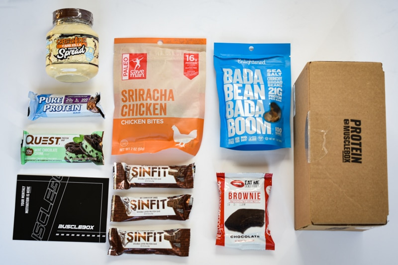 protein box flatlay Muscle Box