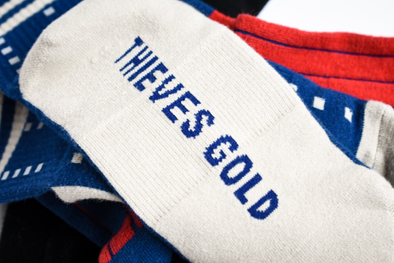 thieves gold radar mid sock
