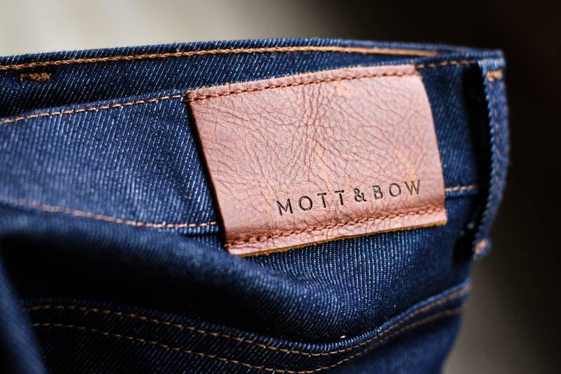 Mott and Bow raw denim jeans