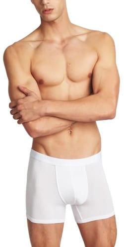 Tani USA SilkCut Boxer Briefs in White Product Shot