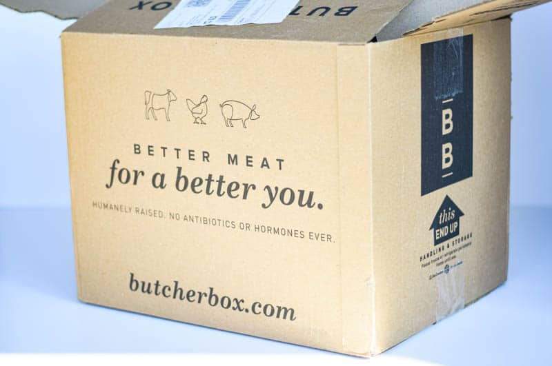arrival package of butcherbox