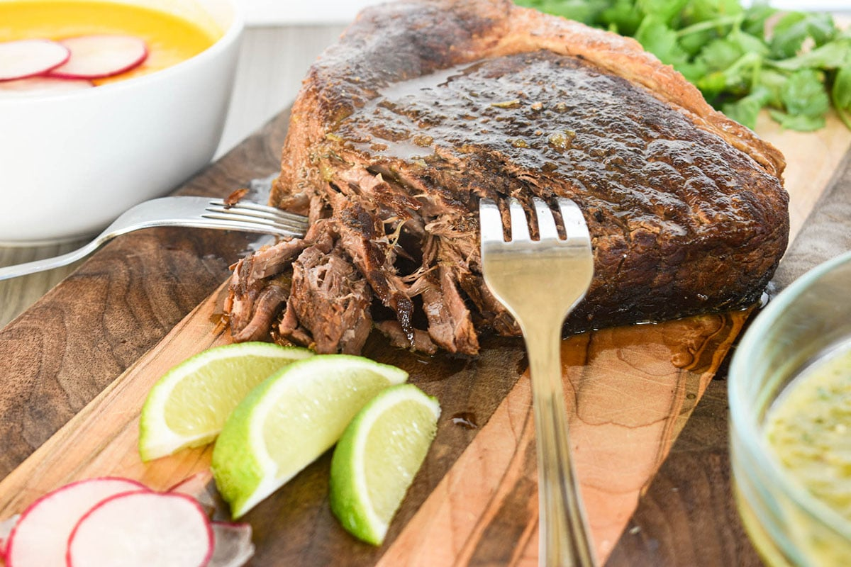 beef roast with limes shredded beef