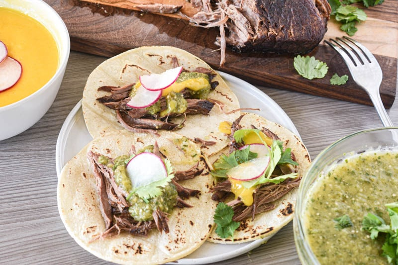 butcherbox shredded beef tacos with salsa