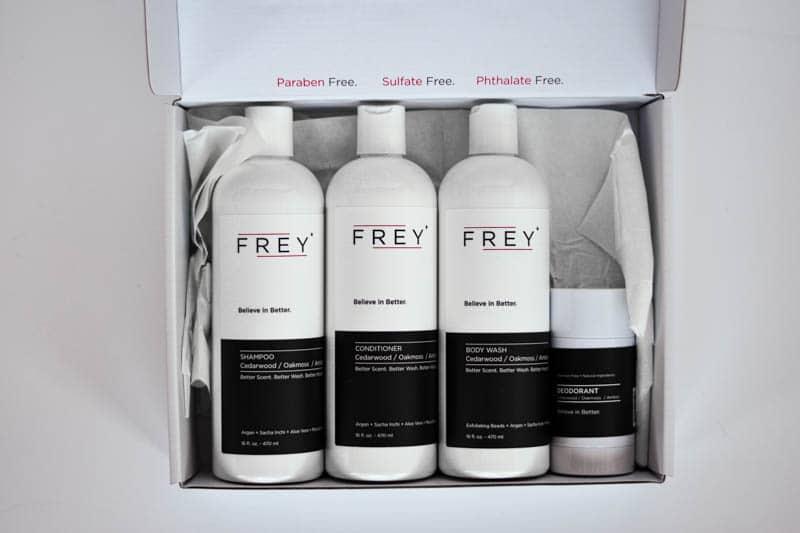 frey bottles in white box top down
