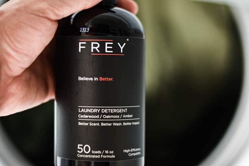 frey laundry detergent washing clothes
