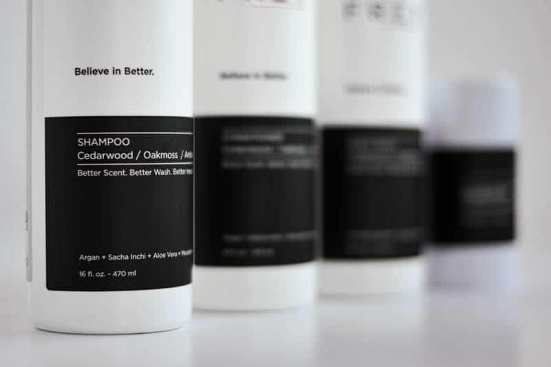 frey shampoo with blurred background