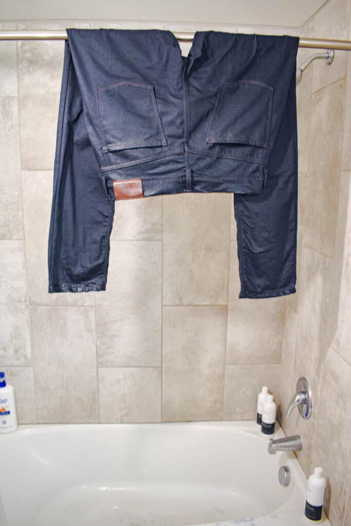 hang drying jeans after wash