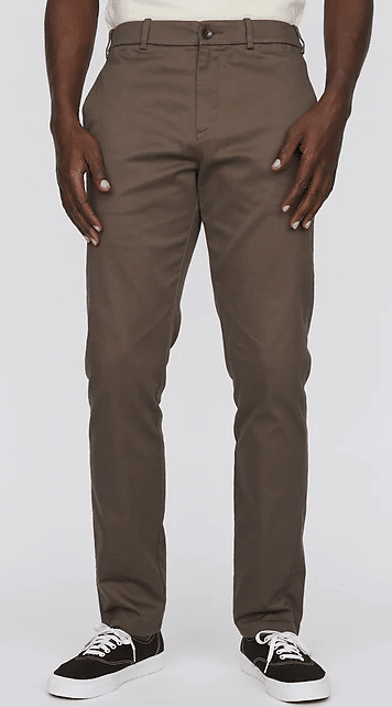 Hill City Everyday Pant Dark Khaki with Black canvas Sneakers