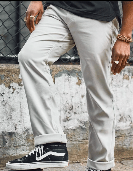 Western Rise Alloy Chino Light Tan Cuffed Ankle