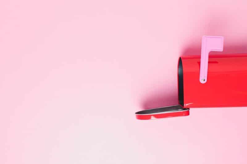 best valentines day gift red mailbox