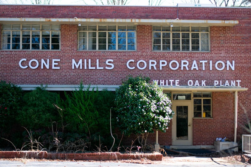 cone mill corporation white oak plant front office