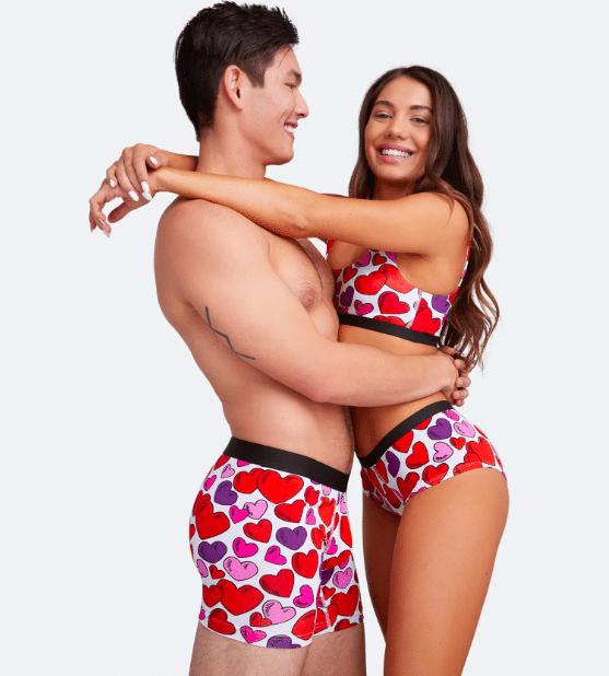 Valentines matching underwear from MeUndies