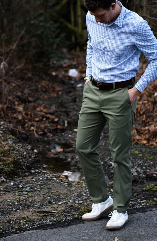 ascender chino and meridian dress shirt in highland grey check