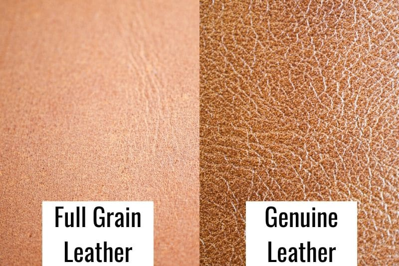 Full Grain vs Genuine Leather