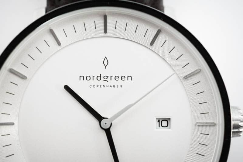 nordgreen philosopher dial closeup against white background