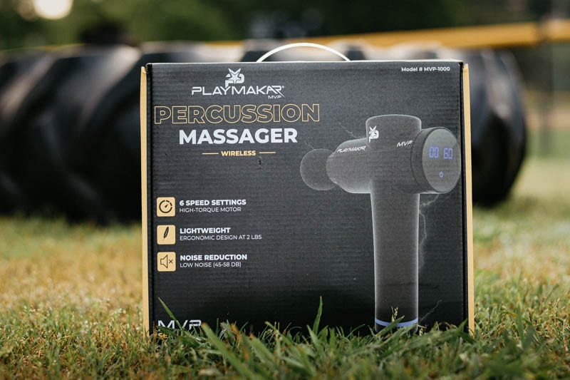 PlayMakar MVP Percussion Massager packaging