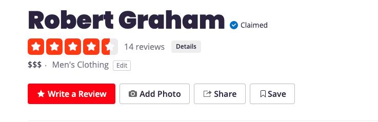 Robert Graham Yelp Review