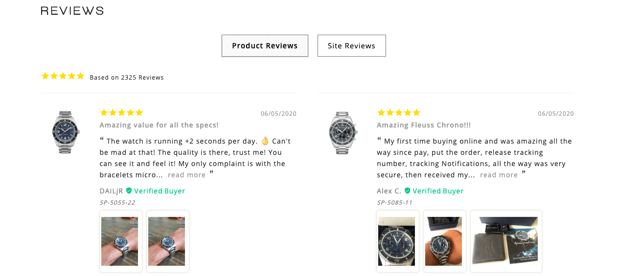 Spinnaker watches reviews