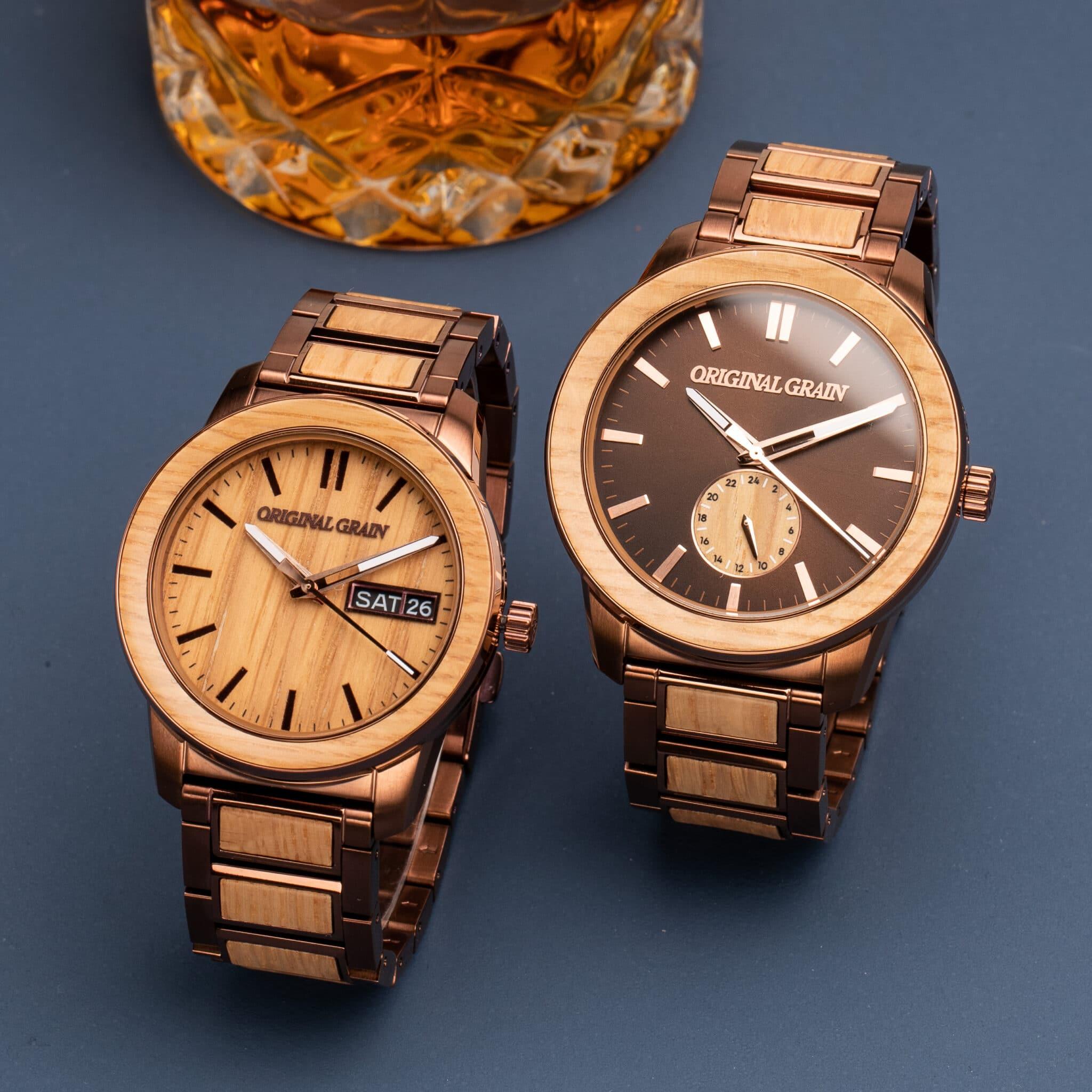 whiskey barrel original grain watches